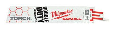 Milwaukee The Torch 6 in. L 18 TPI Bi-Metal Sawzall Blade 5 pk