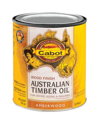 Cabot Wood Finish Transparent Oil-Modified Australian Timber Oil Amberwood 1 qt.