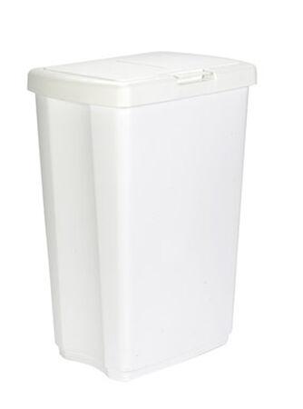 Rubbermaid 13.25 White Spring Top Wastebasket
