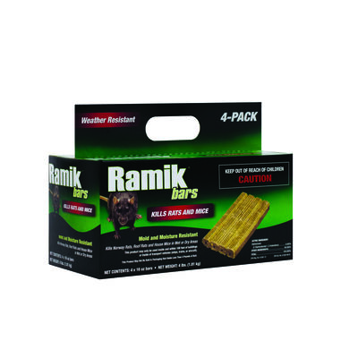 Ramik Rodent Bait For Rats and Mice 4 pk