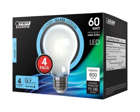 FEIT Electric 9 watts A19 LED Bulb 800 lumens Daylight 60 Watt Equivalence A-Line
