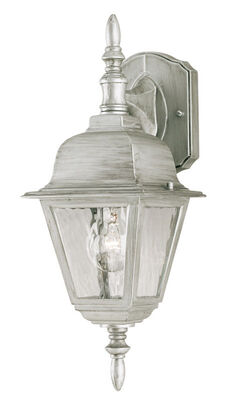 Westinghouse 1 lights Antique Silver Outdoor Wall Lantern