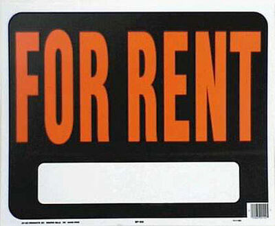 Hy-Ko English 15 in. H x 19 in. W Plastic Sign For Rent
