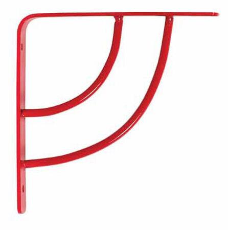 Knape & Vogt John Sterling Steel Red Milano Shelf Bracket