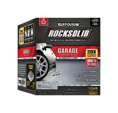 Rust-Oleum RockSolid Garage Floor Coating Kit Extreme High Gloss Gray 76 oz.