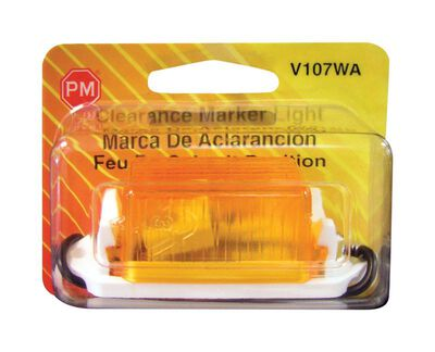 Peterson Mini-Lite Amber 1-1/8 in. x 1 in. x 3-1/4 in. Visual Pack