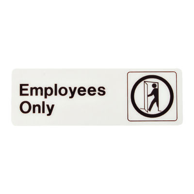 Hy-Ko English 3 in. H x 9 in. W Plastic Sign Employees Only