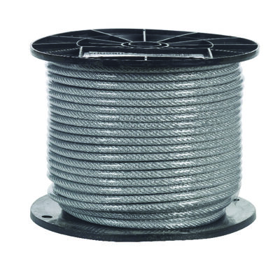 Campbell Chain Galvanized Steel Aircraft Cable 3/16 in. Dia. x 250 ft. L
