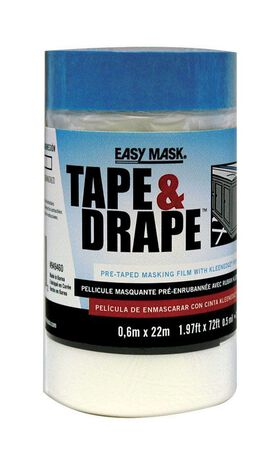 Easy Mask Heavy Weight Plastic Drop Cloth 1.97 ft. W x 72 ft. L x 0.5 mil