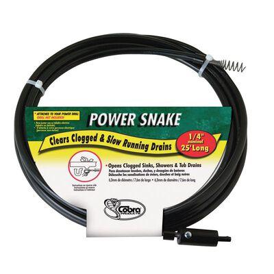 Power Snake 1/4 in. Snake Drain Auger 15 ft. L