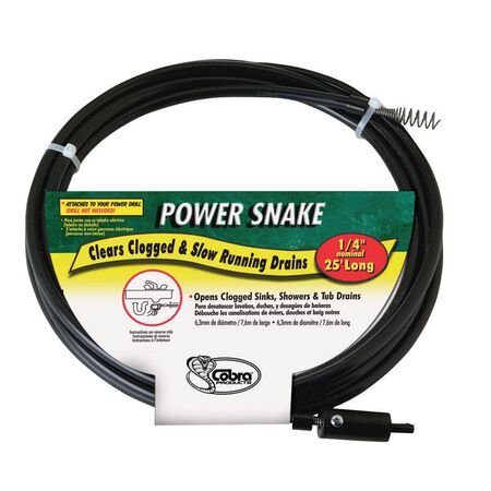 Power Snake 1/4 in. Snake Drain Auger 15 ft. L