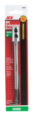 Ace 1/4 in. Dia. x 6 in. L Wood Boring Bit Extension