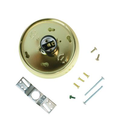 Jandorf Glass Holder Kit Brass 4 in. L x 4 in. H 1 pk