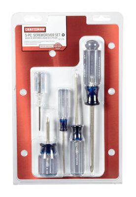 Craftsman 5 Piece Phillips Screwdriver Set Clear 1 pc.