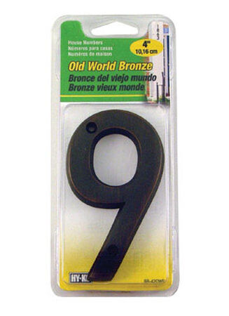 Hy-Ko Nail On Bronze Metal Number 9 4 in.