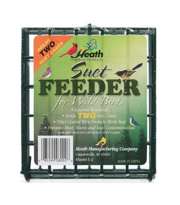 Heath Wild Bird 2 pk Metal Suet Bird Feeder