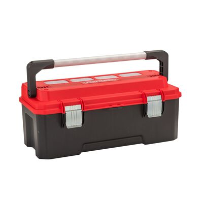 Craftsman 26 in. Plastic Professional Tool Box 11 in. W x 12 in. H Black/Red 77 lb.