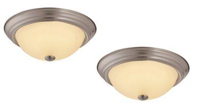 Travis 2-Pack LED Ceiling Lights, Satin Nickel #579193