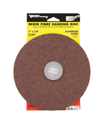 Forney 7 in. Dia. Sanding Disc 24 Grit Adhesive 3 pk