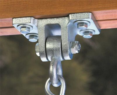 Swing Hanger, For Use With Extra Duty Swings, Cast Steel, Galvanized