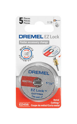 Dremel EZ Lock Metal Cut-Off Wheel 1.5 in. Dia. x 0.05 in. thick 5 pk