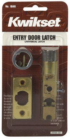 Kwikset Exterior Steel Bright Brass Entry Latch