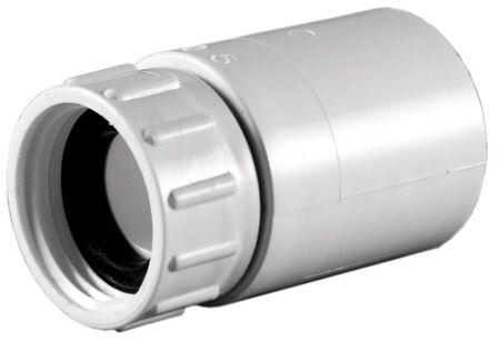 Lasco PVC Swivel Hose Adapter 3/4 in. Dia. x 3/4 in. Dia. White 1 pk