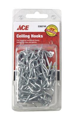 Ace 1.6875 in. L Zinc Plated Steel Ceiling Hook 1 pk