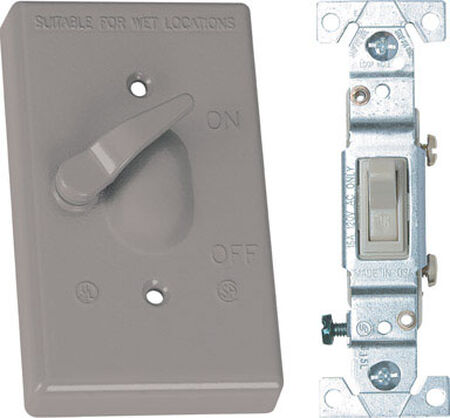 Sigma 15 amps Toggle Weatherproof Switch & Cover Single Pole