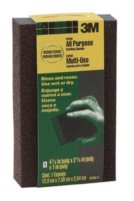 3M Aluminum Oxide Sanding Sponge 4-7/8 in. W x 2-7/8 in. L Medium Coarse