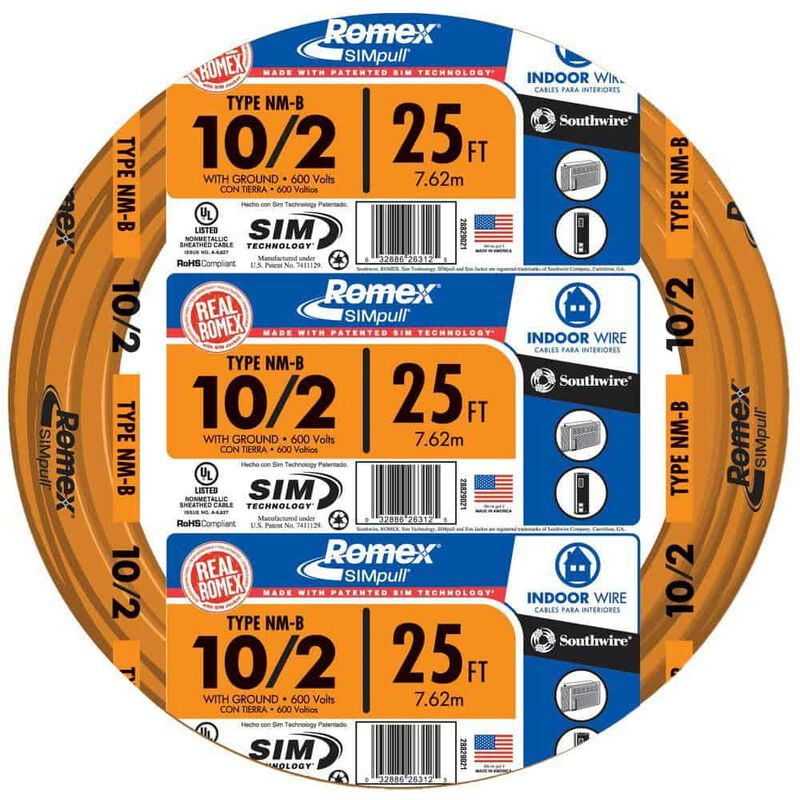 Southwire 25 Ft  10  2 Romex Type Nm