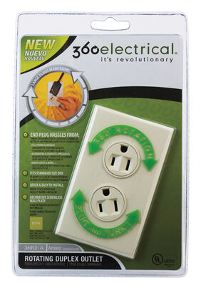 360 Electrical Duplex Outlet 15 amps 5-15R 125 volts Ivory