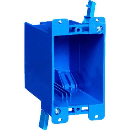 Carlon 4-1/8 in. H Rectangle 1 Gang Outlet Box Blue PVC