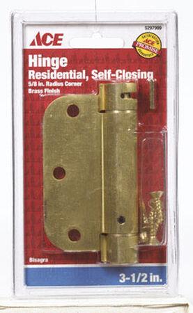 Ace Brass 3.5 in. Dia. x 3.5 in. L x 3.5 in. L Satin Brass 1 pk Residential Hinge