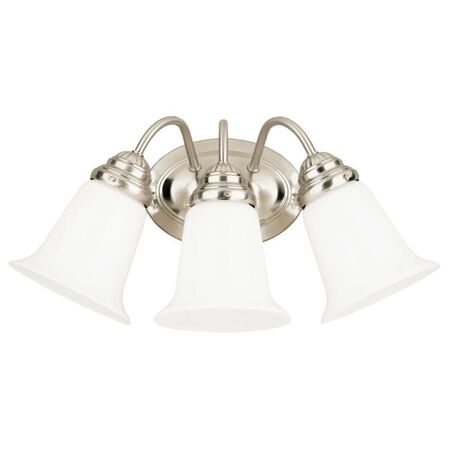 Westinghouse White Brushed Nickel Glass Wall Fixture 1
