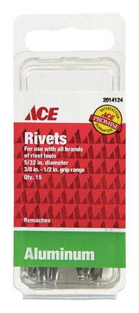 Ace 1/6 in. Dia. x 1/2 in. Aluminum Rivets 15 pk