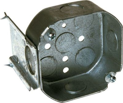Raco 4 in. H Octagon Junction Box 1/2 in. Gray Steel