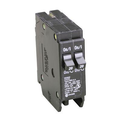 Eaton HomeLine Tandem/Single Pole 20/20 amps Circuit Breaker
