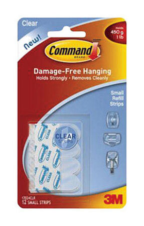 3M Command Medium Refill Adhesive Strips 2-3/4 in. L Foam 2 lb. per Strip 9 pk