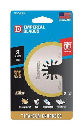 "Imperial Blades One Fit 3-1/8"" Storm Titanium Thin Metal Segment Blade, 3PC"