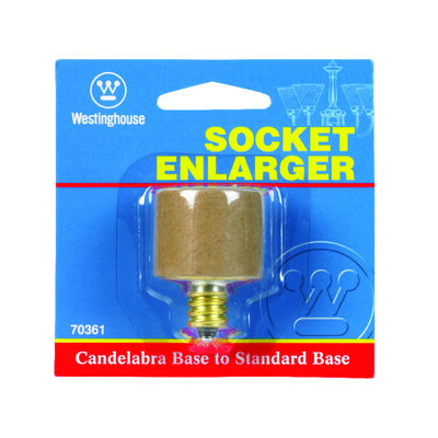 Westinghouse 75 watts 120 volts Socket Adapter Brass
