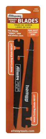 Allway 7.5 in. L 24 TPI Hand Handy Saw Blade Steel