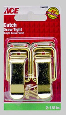 Ace Bright Brass Drawer Catch 2 pk