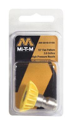 Mi-T-M Quick Connect 3 15 15 deg. Pressure Washer Nozzle