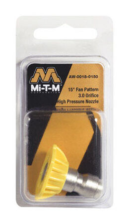 Mi-T-M Quick Connect 3 15 15 deg. Pressure Washer Nozzle
