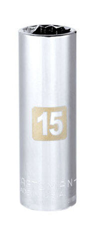 Craftsman 15 Alloy Steel 3/8 in. Drive in. drive Socket Deep