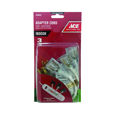 Ace Cord Adapters SPT-3 8 in. 13 amp 125 volts 1 625 watts Clear UL