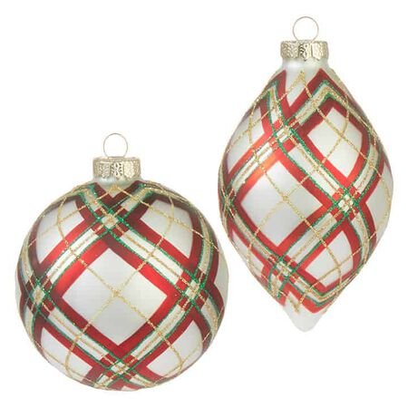 """4"""" Plaid Ornament"""