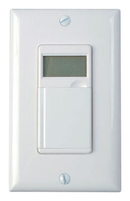 Woods Indoor In-Wall 7 Day Digital Timer White