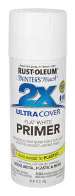 Rust-Oleum Painter's Touch Ultra Cover White Flat 2x Primer Spray 12 oz.